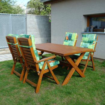 Dřevěný zahradní nábytek jídelní set SOLBERGA BOX Domingo