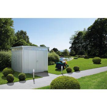 Biohort HighLine 2 zahradní domek stříbrný