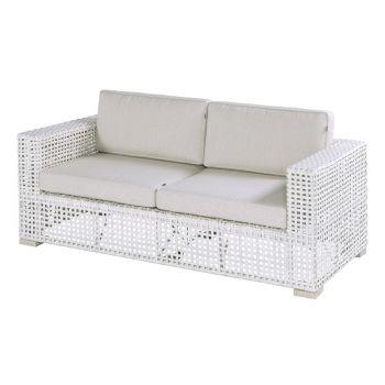 Zahradní sofa lounge umělý ratan Hartman YANET Ivory wash
