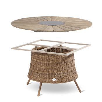 Zahradní stůl umělý ratan teak Hartman PROVENCE VB Lotus brown
