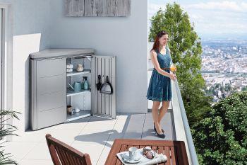 Rohová skříňka na balkón Biohort CornerBoard