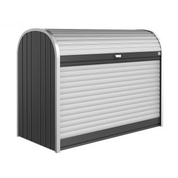 Biohort StoreMax tmavě šedý box na jízdní kolo, skútr, kočárek a popelnice