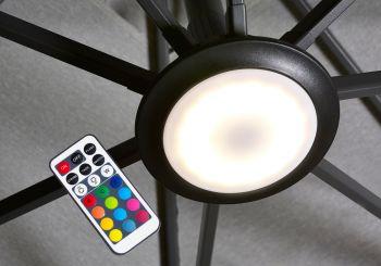 LED světlo k bočnímu slunečníku Platinum
