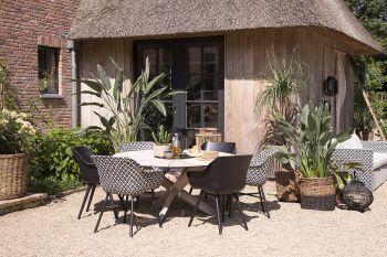 Zahradní jídelní set BLACK and WHITE