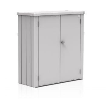 Biohort ROMEO stříbrná skříňka na balkón
