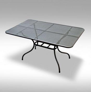 Zahradní kovový jídelní stůl z tahokovu 160x95