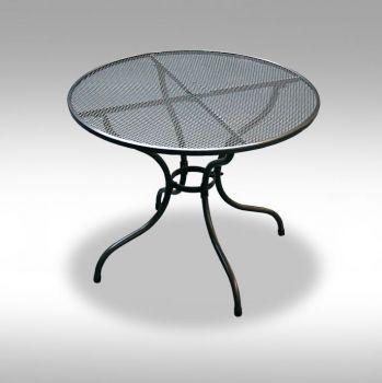 Zahradní kovový stolek z tahokovu Bistro 90