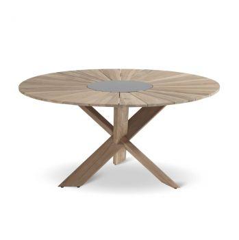 Zahradní stůl Hartman Provence cross light grey