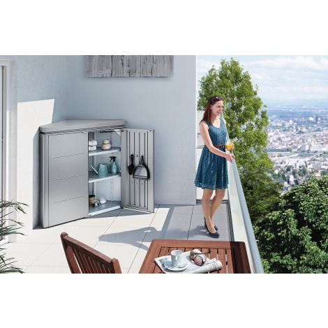 Rohový box na balkón Biohort CornerBoard