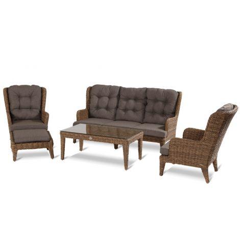 Zahradní nábytek umělý ratan sofa set Hartman LOUIS Lotus brown