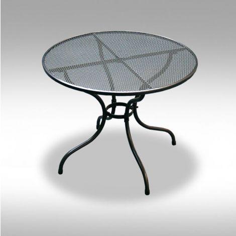 Zahradní kovový stolek z tahokovu Bistro 105