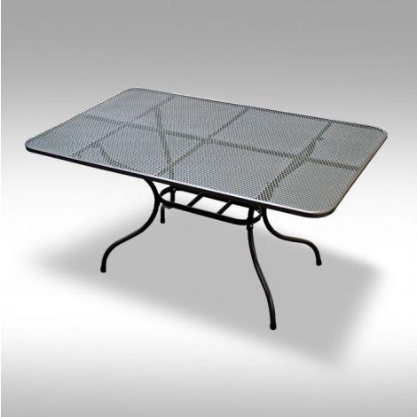 Zahradní kovový jídelní stůl z tahokovu 145x90