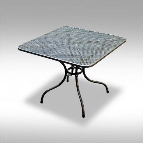 Zahradní kovový stolek z tahokovu 90x90