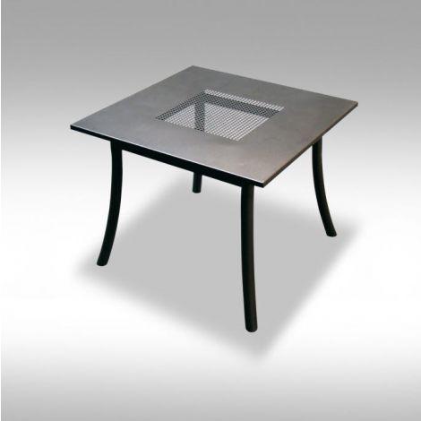 Zahradní kovový stolek z tahokovu Palo 90x90