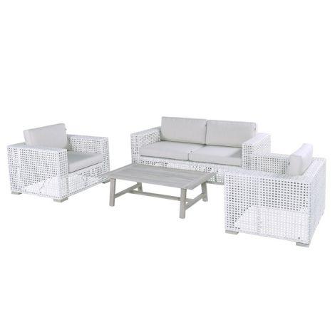 Zahradní nábytek umělý ratan sofa set Hartman YANET Ivory wash