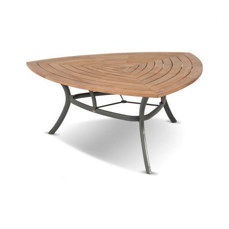Zahradní stůl hliník teak jídelní Hartman TRIANGULAR