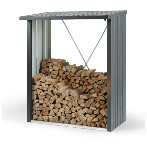 Zahradní zásobník na dřevo Biohort WoodStock tmavě šedý