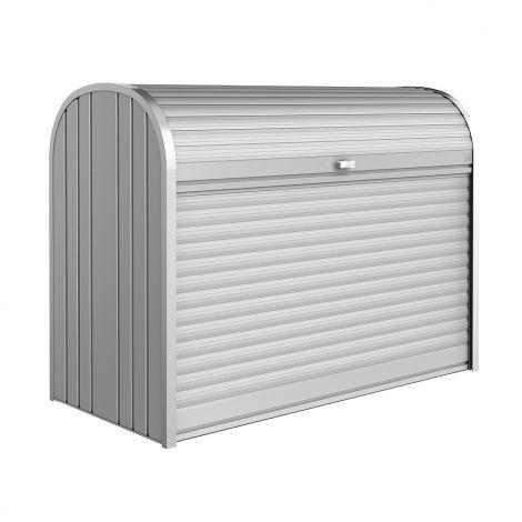 Biohort StoreMax stříbrný box na jízdní kolo, skútr, kočárek a tříděný odpad