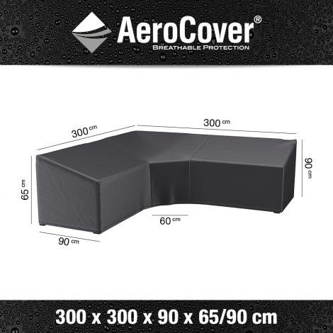 Kryt na rohovou lounge sedačku AeroCover Trapeze 3