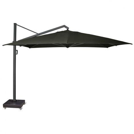 Luxusní velký slunečník s pojízdným podstavcem Platinum ICON Anthracite-Faded black-350