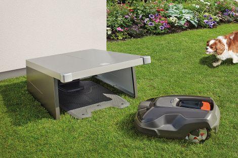 Garáž pro robotickou sekačku na trávu Biohort Charly