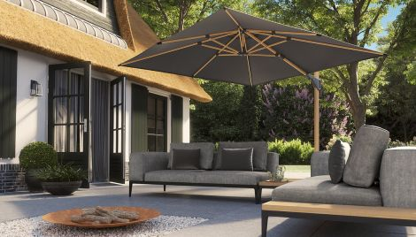 Slunečník CHALLENGER T2 Oak wood premium