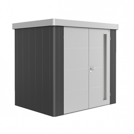Biohort NEO domek 2 tmavě šedý/stříbrný
